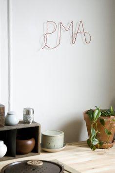 Miniature Rhino: diy braided monogram wall hanging #gifts #diygift #decor #baby #kids #birthday #make #diy #christmas