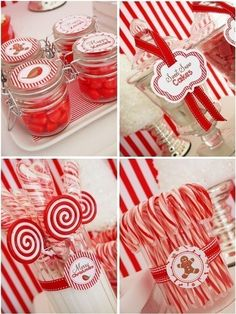 Red and White Candy Cane Christmas