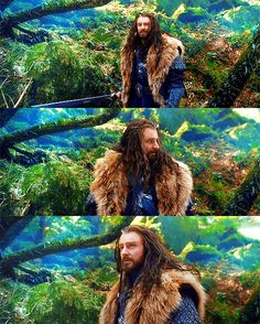Thorin, The Hobbit. I loved the scene where he comes down from the tree to fight the orcs. Even though it totally didnt happen in the books lol xxx