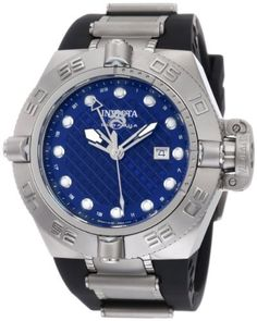 Invicta Men's 1155 Subaqua Noma IV GMT Blue Dial Black Polyurethane Watch Invicta. $159.75. Water-resistant to 1640 feet (500 M). Date function. Swiss Quartz movement. Blue perforated dial with silver tone hands and hour markers; Luminous; Unidirectional bezel; Screw-down crown with safety clasp; GMT function. Flame-fusion crystal; Brushed and polished stainless steel case; Black polyurethane strap with stainless steel inserts