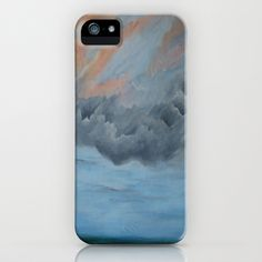 And Then It rained Seascape iPhone Case by Rosie Brown - $35.00
