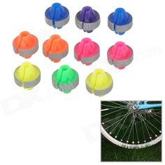 Bicycle Steel Wire Reflective Bead - Multicolored (10 PCS) Price: $4.80