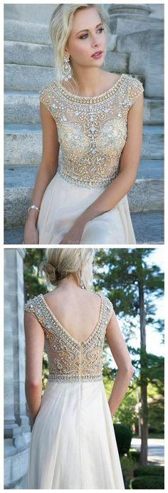 Brand New Chiffon Beading Floor Length Formal Party Prom Evening Dresses(ED0595)