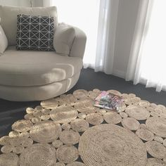The Lotus Jute Rug   This rug has a vibrant feel compared to the laid back Poppy and is more restrained than Magnolia. Order yours today! . . #juterug #harrisonandco #harrisonandcostyle #interiordesign #livingroom #interiorstyling #pocketofmyhome