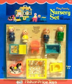 FP Little People Nursery- my grandma has these at here house... loved playing with all this stuff.