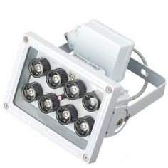 OKEBA AC 110V Long Range 8 LED 16W Night Vision 80m(263 FT) 45° level angle visual range IR Infrared Illuminator Light For CCTV Camera Cam- White With AC adapter by OKEBA. $38.99. Specifications: Led quantity: 8  Wave length: 850nM Illuminating range: Standard 45° level angle visual range;  Viewing range: 80m (outdoor); approximate 263 feet.  Built-in IR sensor Definition consumed power: 16W Wave length: 850nM  Structure: aluminum housing and reinforced glass ...