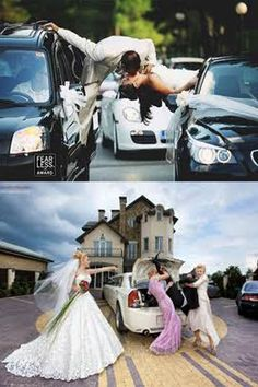 which picture do u think  more funny in wedding? The first or the second?