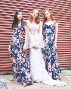 Floral fabrics & forever friends 👯‍♀️ Shop our bridesmaid dresses at (no appointment necessary) or visit us at… Vintage Formal Dresses, Formal Dresses For Teens, Modest Dresses, Bridesmaid Dresses, Wedding Dresses, Bridesmaids, Plus Size Prom, Plus Size Wedding, Bridesmaid Inspiration