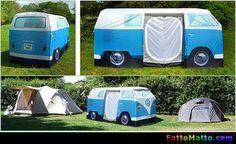 Tenda Furgoncino Volkswagen - via FattoMatto.com