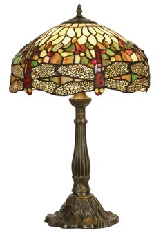 Large 16 inch Tiffany Dragonfly Table Lamp in a very subtle design