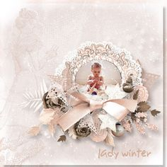 Lady Winter by Aurelie Scrap Scrap, Lady, Winter, Winter Time, Scrap Material