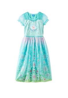 Disney s Frozen Fever Elsa Dress-Up PJ Nightgown Girls Size 4 6 8 10   0c7ba13d4