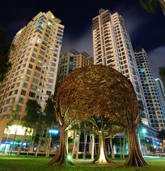 'The Trees', a sculpture by Reynato Paz Contreras, located at Burgos Circle, Bonifacio Global City Rizal Park, Street Photography, Travel Photography, Wow Art, Aesthetic Pastel Wallpaper, Philippines Travel, Concrete Jungle, Future City, City Streets