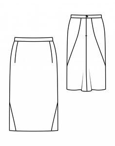 Pouzdrová sukně ke kolenům