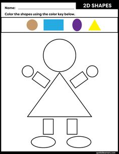 These FREE printable worksheets for kids are great for practicing spatial concepts! These shapes worksheets can be used as homework, bell-ringer activity, or warm-up activity. Fun things to do with your kindergarten or grade 1 students! Preschool Poems, Summer Preschool Activities, All About Me Preschool, Kindergarten Math Worksheets, Toddler Learning Activities, Shapes Worksheets, Worksheets For Kids, Printable Worksheets, Free Printable