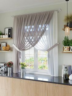 Тюль для кухни Макер (серый) Living Room Decor Curtains, Living Room Decor Furniture, Home Curtains, Home Decor Bedroom, Curtains Walmart, Home Room Design, Home Interior Design, Living Room Modern, Home Living Room