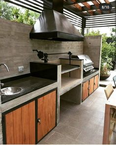 """Receive fantastic ideas on """"outdoor kitchen designs layout patio"""". They are actually offered for you on our site. Modern Outdoor Kitchen, Outdoor Living, Outdoor Decor, Outdoor Pergola, Small Outdoor Kitchens, Outdoor Kitchen Grill, Pergola Diy, Patio Kitchen, Modern Pergola"""