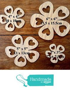 A Wonderful Set Of 4 Different Sized MDF 'Flower' Drawing Templates (Set 9) from The Andromeda Print Emporium https://www.amazon.co.uk/dp/B01K6YIVNC/ref=hnd_sw_r_pi_dp_gJhRxbD1EB1BY #handmadeatamazon