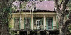 Photo Credit: (Photo by Nell Dickerson). What remained of a house, circa in Hancock County, Mississippi in a year before Hurricane Katrina dealt the fin Abandoned Mansions, Abandoned Buildings, Abandoned Places, Antebellum Homes, Southern Plantations, Autumn Home, Amazing Architecture, Old Houses, Urban Decay