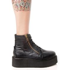 Punisher High Top Creepers Dolls ($95) ❤ liked on Polyvore featuring shoes, sneakers, punk shoes, gothic shoes, high top trainers, demonia and demonia footwear