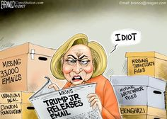 Donald Trump Jr. releases his email regarding Russian Attorney in an effort to be transparent, let contrast that to Hillary. Cartoon by A.F. Branco ©2017.