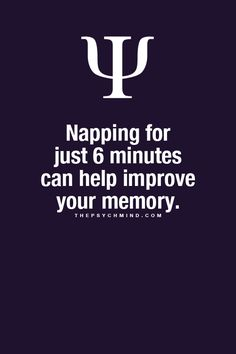 Napping for just 6 minutes can help Improve your memory