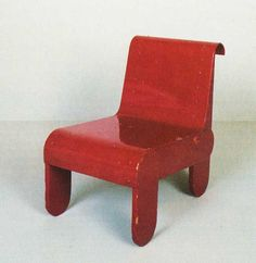 Gerrit Rietveld, Low Chair, Circa 1935