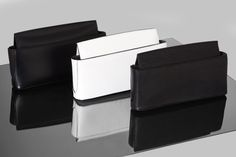 Black and White Leather Clutches  | Designer Handbags | MCCLLM