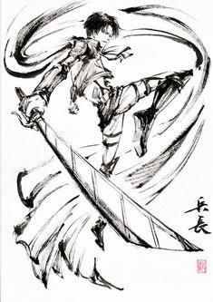 Attack On Titan Fanart, Attack On Titan Levi, Manga Art, Manga Anime, Captain Levi, Anime Tattoos, Anime Sketch, Levi Ackerman, Ink Painting