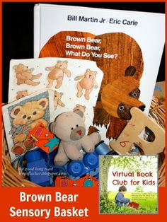 {Virtual Book Club for Kids} Move, Eat, Draw and Learn with Brown Bear, Brown Bear What Do You See? by Bill Martin Jr.