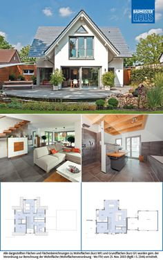 Devon House, German Houses, Classic House Exterior, House Plans Mansion, Simple House Plans, Model House Plan, Small Modern Home, House Ideas, Apartment Layout