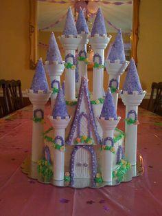 castle cakes with wilton romantic castle kit Cinderellas Castle