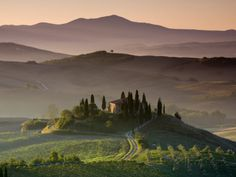 Farmhouse, Val D' Orcia, Tuscany, Italy Photographic Print by Doug Pearson at AllPosters.com