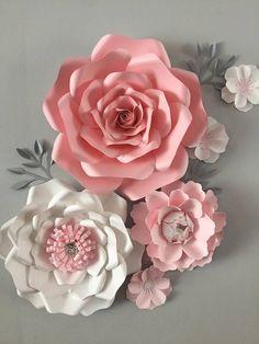 svg dxf petal 16 paper flowers template cricut silhouette cutting