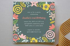 Gardenia Children's Birthday Party Invitations by Amber Barkley at minted.com