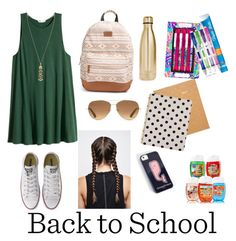 """Back to school contest entry 1"" by pinterestemily on Polyvore featuring Rip Curl, Stella & Dot, Converse, S'well, Sugar Paper, Kate Spade, Lilly Pulitzer and Paper Mate"