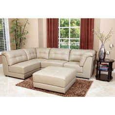 Crafted of durable, high-grade Italian leather that is both soft and supple, this 5-piece sectional collection provides both comfort and class with its sophisticated styling and elegant features.