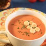It feels like fall! We finally got a taste of cool weather this weekend and needed a taste of creamy tomato soup- one of our all time favorites! And don't forget the grilled cheese... This duo hits the spot!