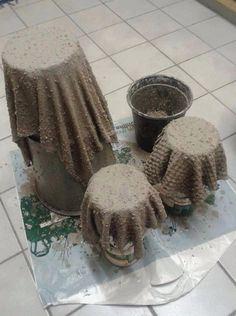 Litt utenom det vanlige dette her, men de er jaggu meg flotte!Ta noen gamle håndklær og dypp de i...