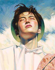 Jaehyun (fan art) by Jaehyun Nct, Kpop Fanart, Kpop Drawings, Art Drawings, Fan Art, Guache, Korean Art, Les Oeuvres, Art Inspo