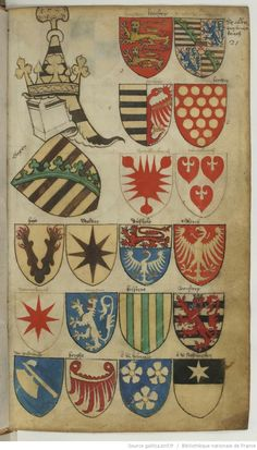 Wappen von Sachsen / Coat of Arms of Saxony / Escudos Heráldicos de Sajónia