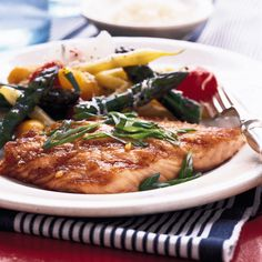 The sweet-savory miso glaze on this salmon not only adds an earthy richness to the fish. It also gives the salmon a delicious caramelized crust on the grill.