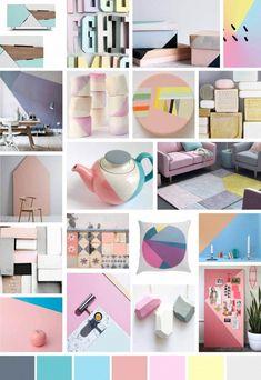 Sian Tomlinson_SS14_Pastel Colour Blocking_Moodboard