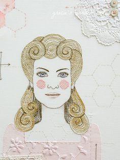 She was  a sewing machine... by Gracie's Garden Bazaar, via Flickr