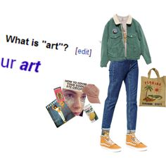 Art hoe by newyhork on Polyvore featuring ASOS, Dorothy Perkins, Vans and Acne Studios