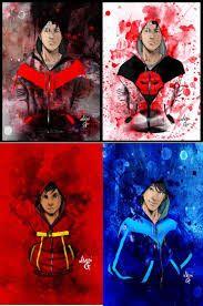 Jason Todd, Damian Wayne, and Dick Grayson hoodie collection for Red Hood, Robin