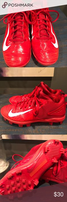 Nike baseball cleats Trouts gently used. Nike baseball cleats Trouts gently  used. Nike baseball cleats youth, size ...