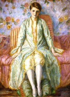 Portrait Of Jane Belo 1926  Frederick Carl Frieseke ~ (American, 1874-1939)
