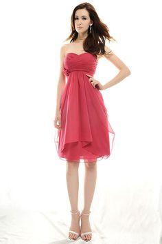 A-line empire waist chiffon dress for bridesmaid-minus the fake flower on the left I really like it