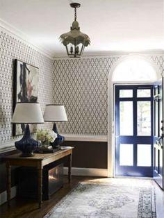 entryway. lattice wallpaper